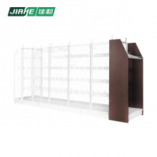 Double-Sided Free Standing Metal Mesh Panel Shop Fitting Shelving Unit Used in Supermarket