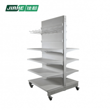 Double Sided Multiple Layer and Movable Hanging Rack with Display Hook