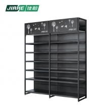 Customized Metal Outrigger Wall Grocery Store Display and Supermarket Shelves with Upper Storage