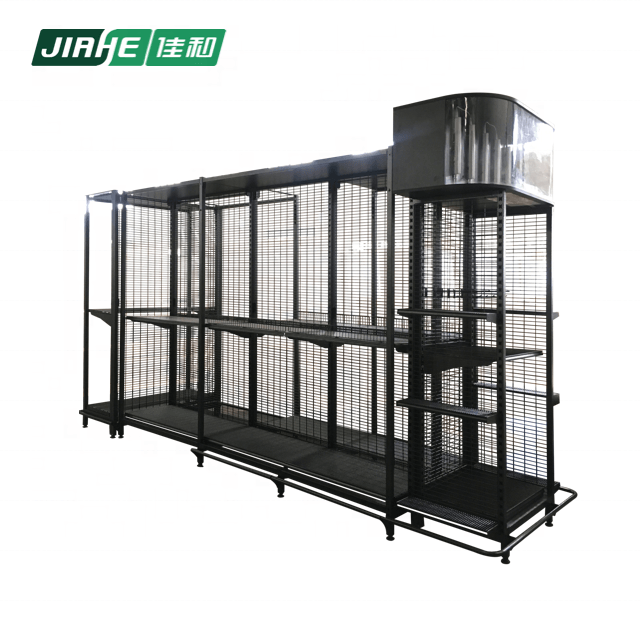 Multi-layer Wire Light Box Shelves and Goods Display Stand For Supermarket