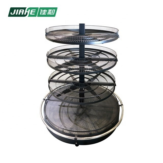 Round Wire Display and Wire Metal Shelves Store Equipment for Supermarket