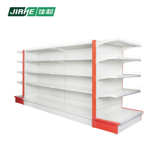 Double-sided gondola shelving and industrial display for shop fitting used in supermarket