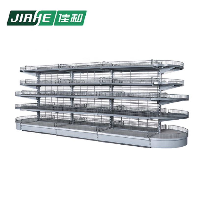 Metal Wire Double Sided Gondola Shelving Shop Fittings